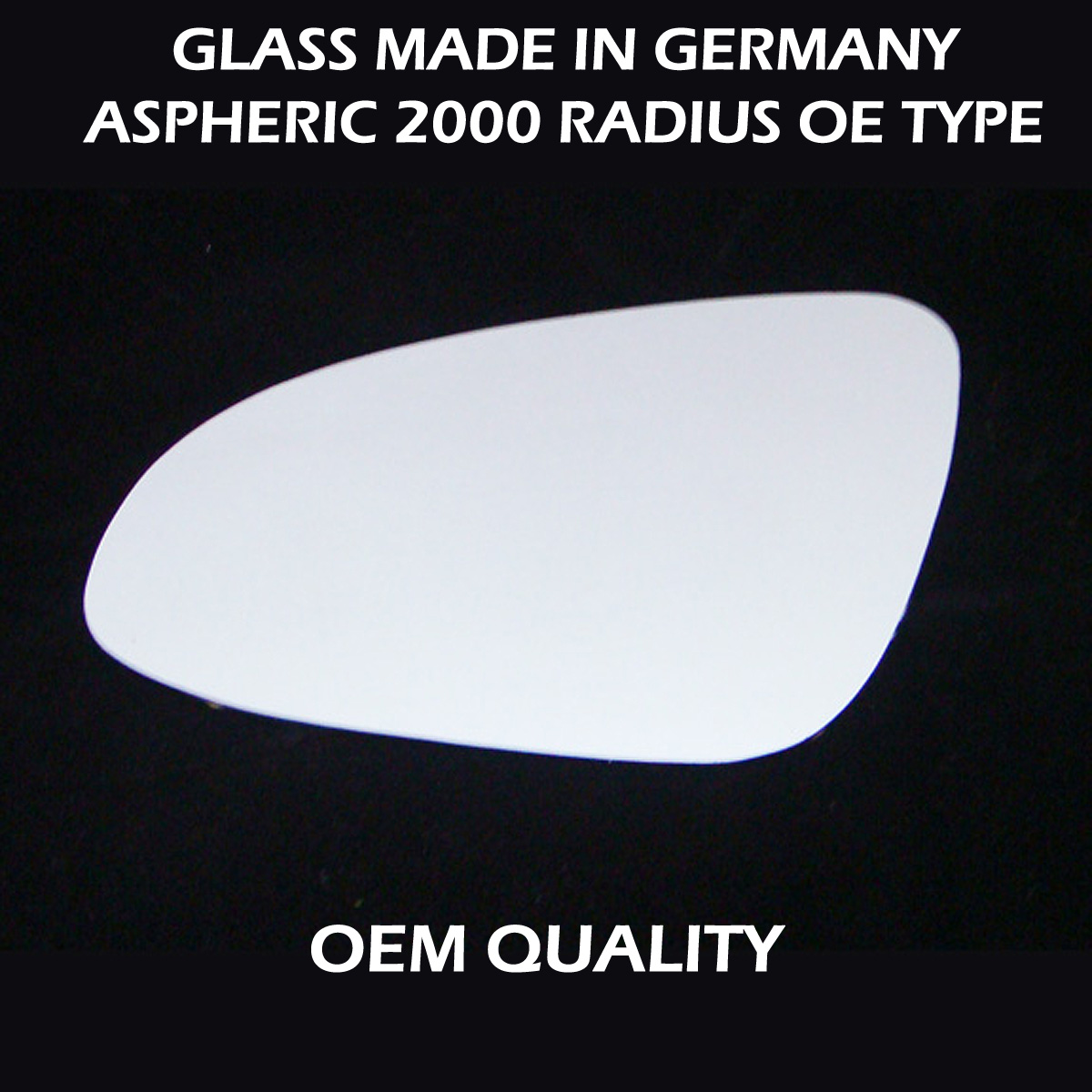 Left side for Toyota Auris 2006-2012 heated wing door mirror glass
