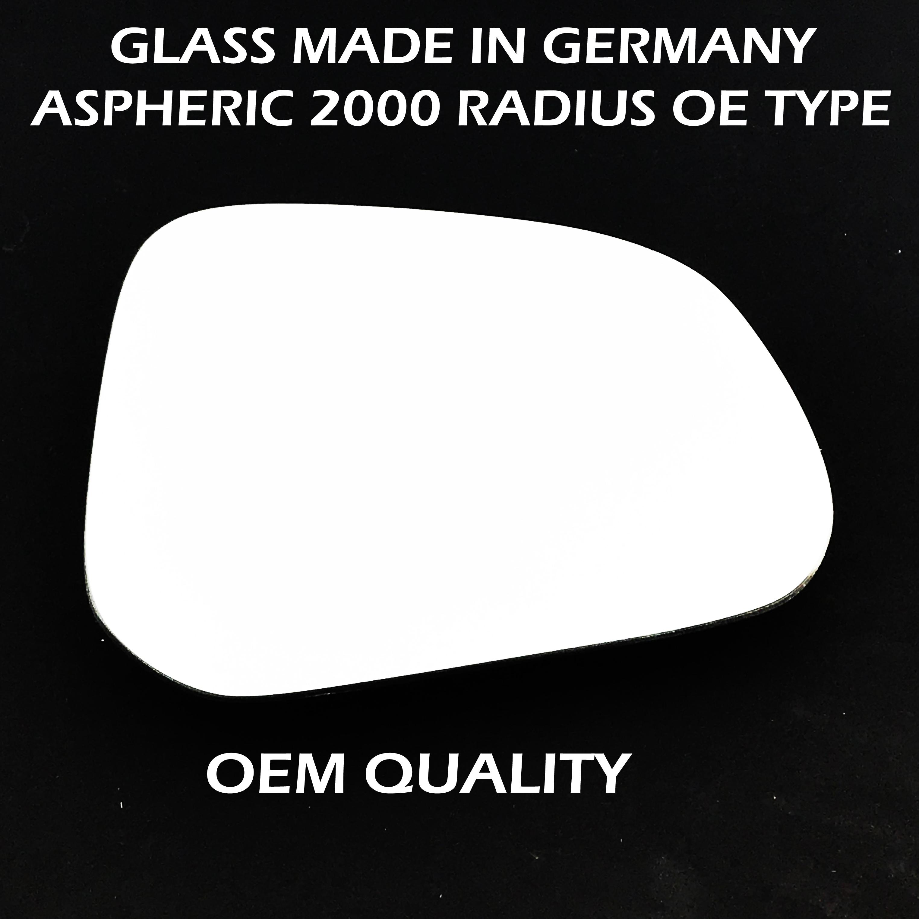 Right hand Driver side for Nissan Pixo 09-13 wing mirror glass Wide Angle