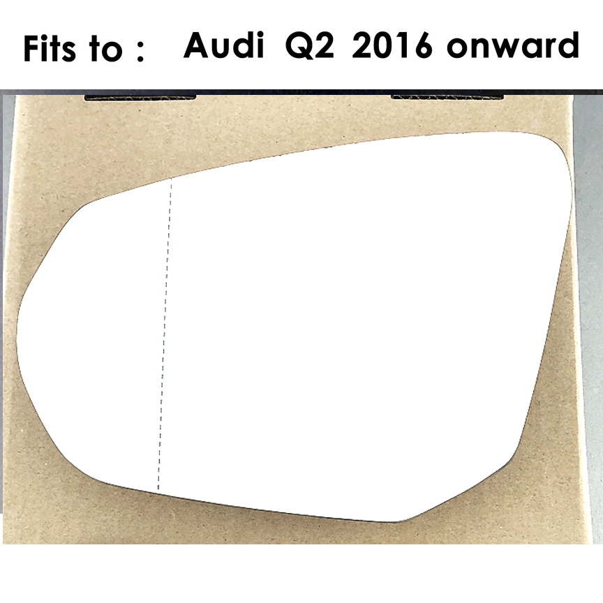 Wide Angle Clip on 2007 onward R8 RIGHT SIDE Wing Mirror Glass With Base Heated