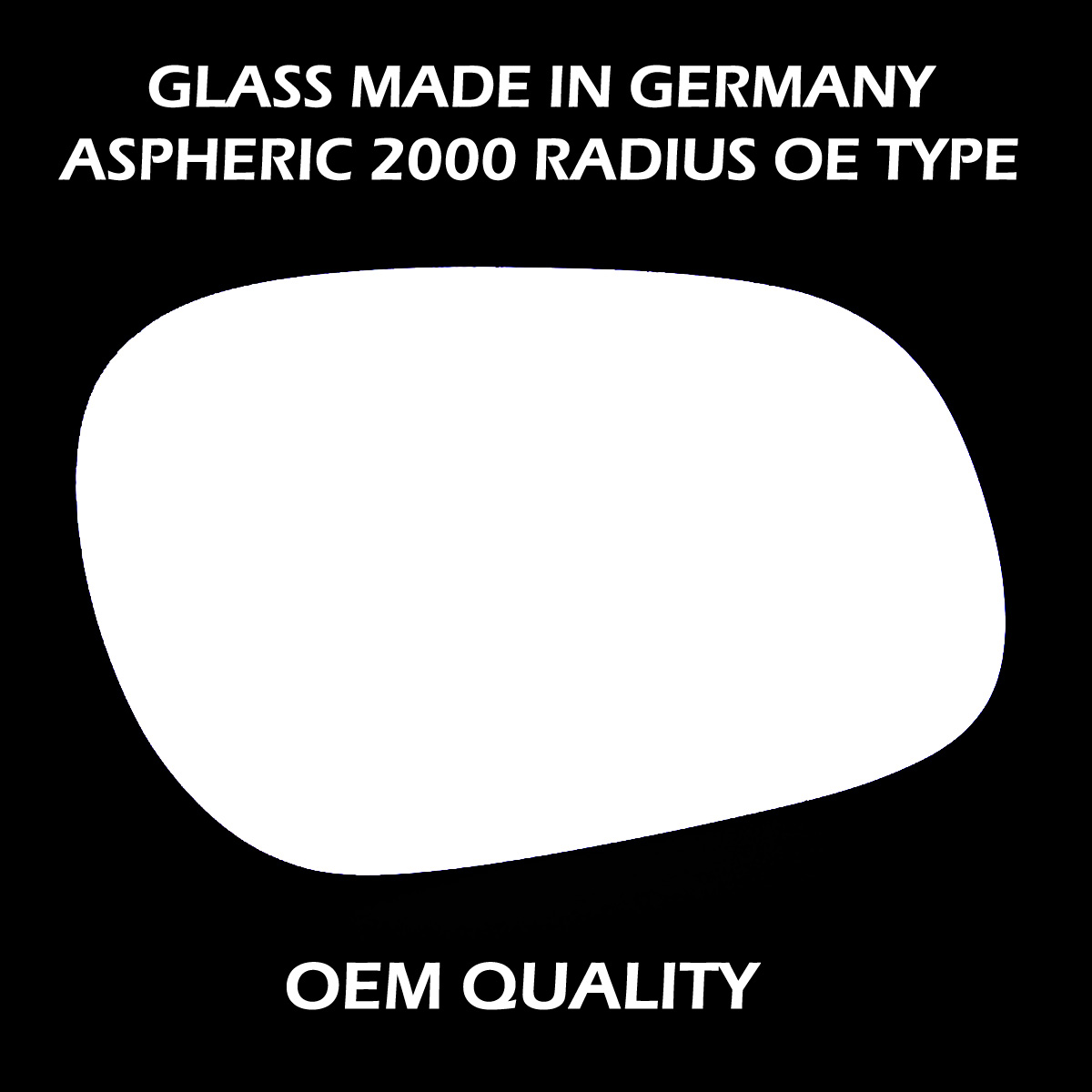 Replacement Mirror Glass RHS 1986-1999 Rover 800
