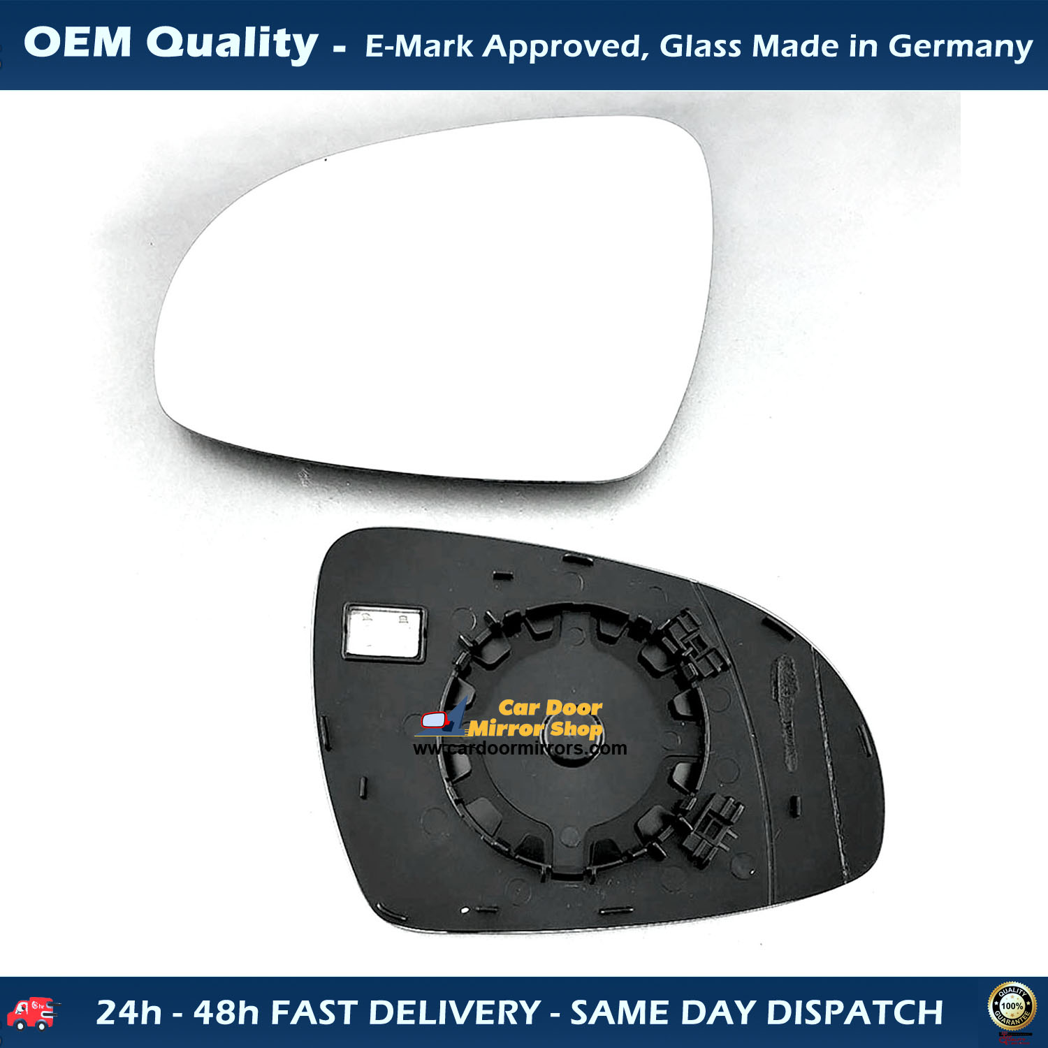 PEUGEOT 407 2004 PLATE WIDE ANGLE DOOR WING MIRROR GLASS BLUE