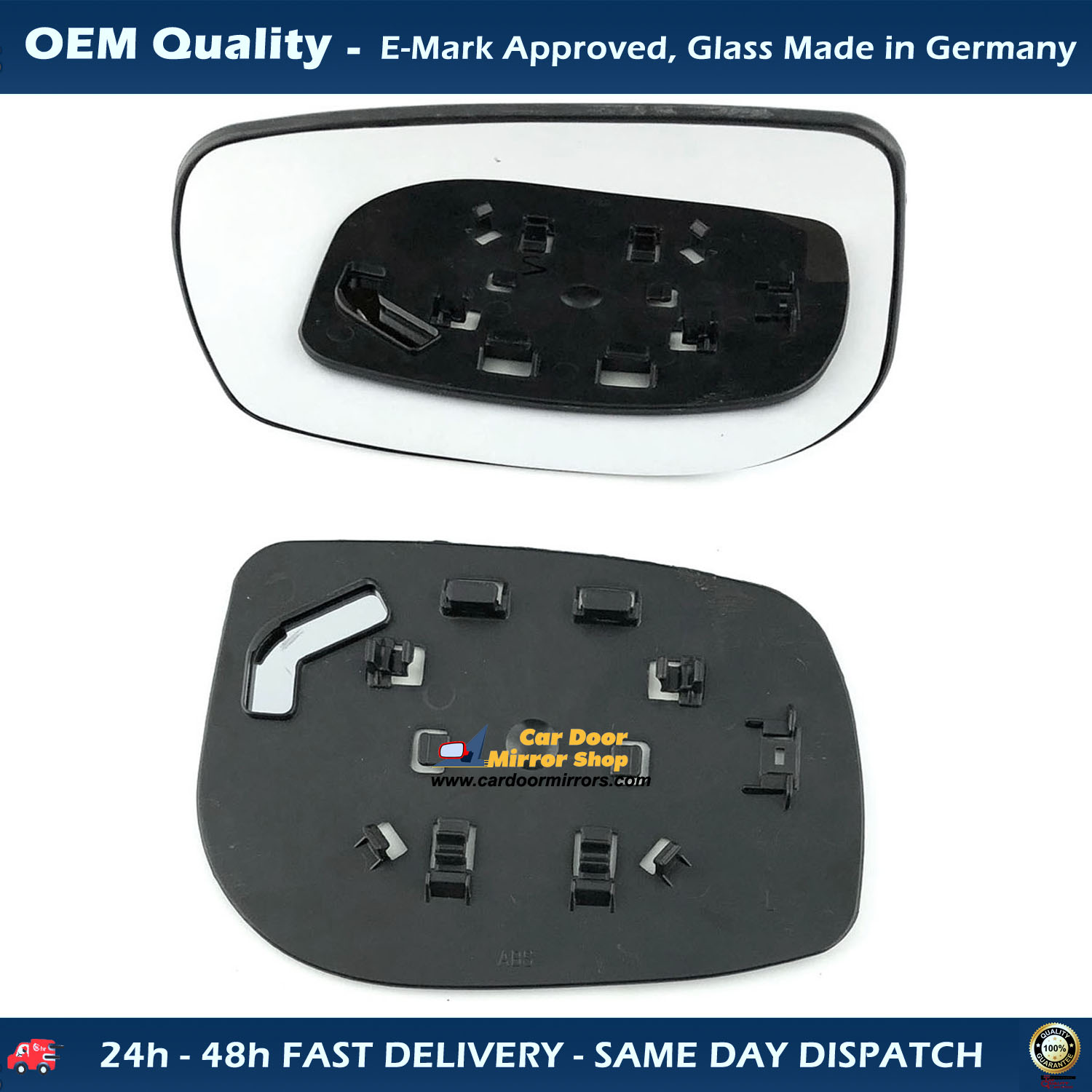 2006 to 2011 Non-Heated TOYOTA Yaris Door Wing Mirror Replacement Left Side