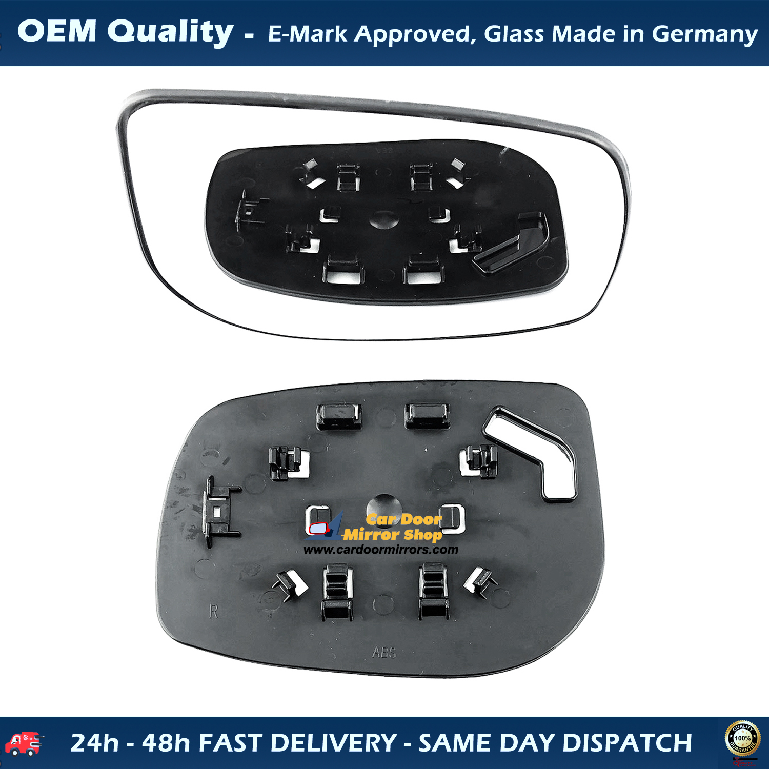 Toyota Yaris 2006 To 2011 Wing Mirror Glass With Base Heated Ready