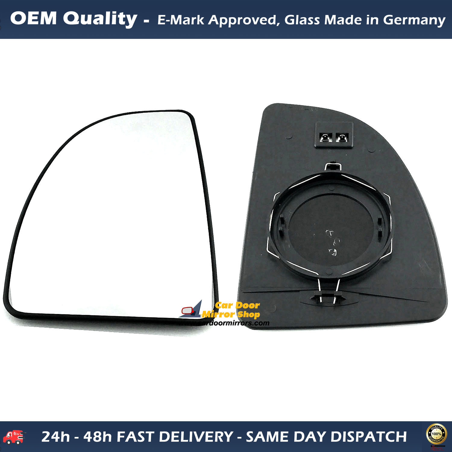 LEFT SIDE PEUGEOT BOXER 1999-/>2005 DOOR//WING MIRROR GLASS SILVER HEATED /& BASE