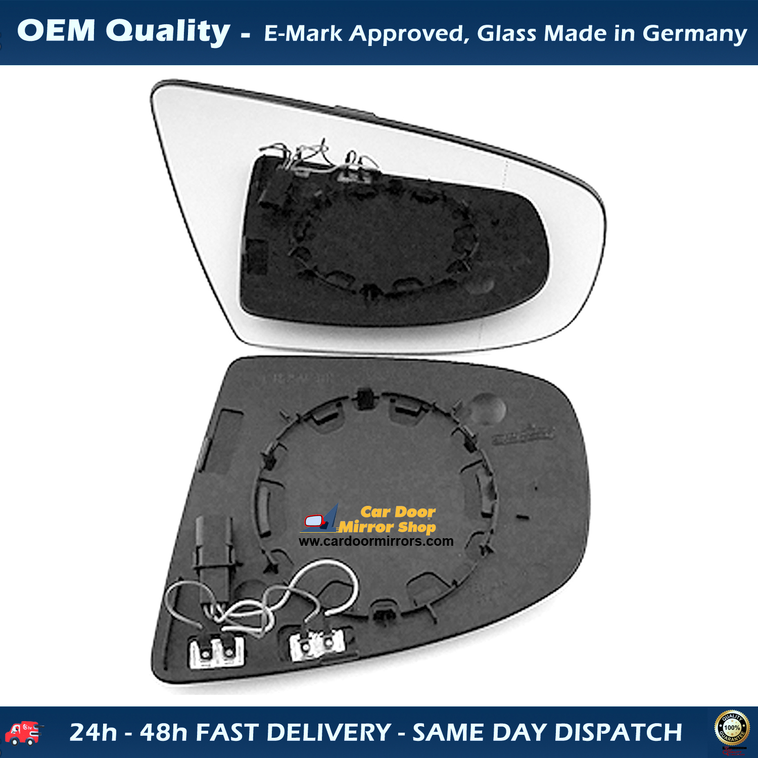 Left Side Wing Mirror Glass For Honda CRV Heated Fits to Reg 2007 to 2012