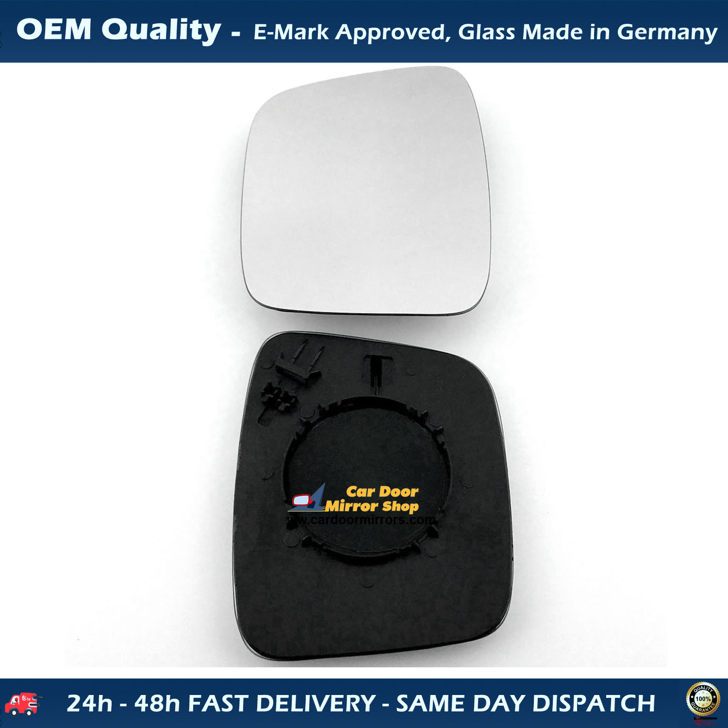 On New Door Wing Mirror Heated Electric Black O//S Right Side Citroen Nemo 2008