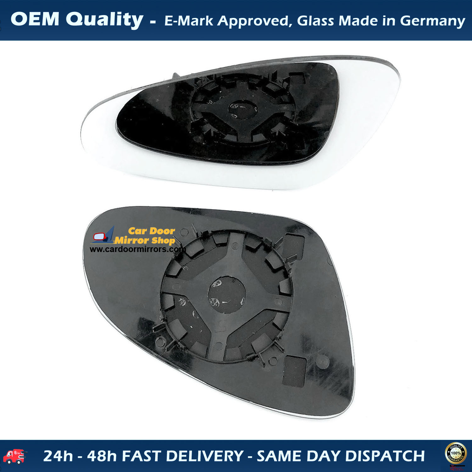 Left Side Covex Wing Mirror Glass For Vauxhall Astra Clip On Heated Fits to reg