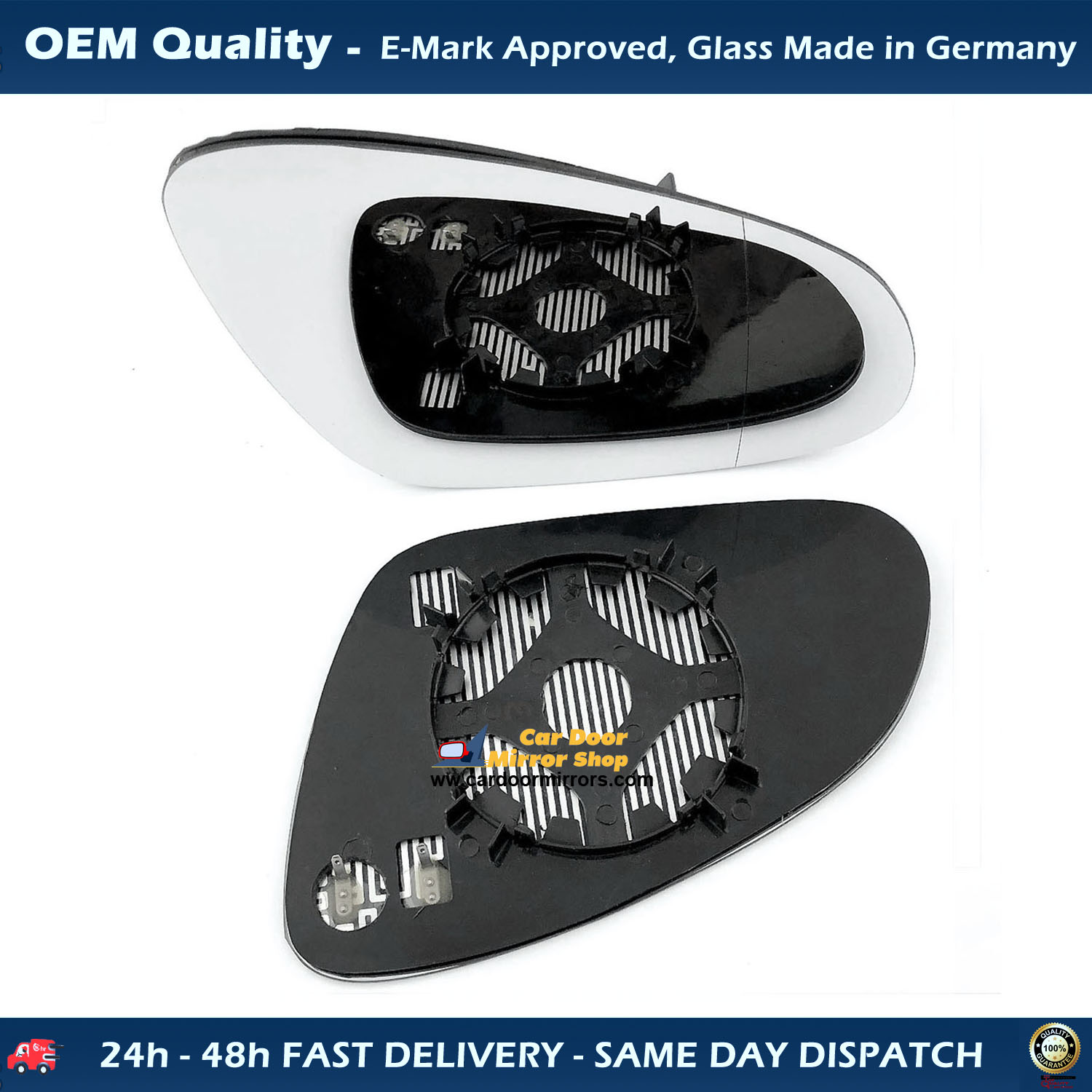 VOLVO V40 WING MIRROR GLASS SILVER ASPHERIC HEATED /& BASE,RIGHT SIDE,1996-/>2004