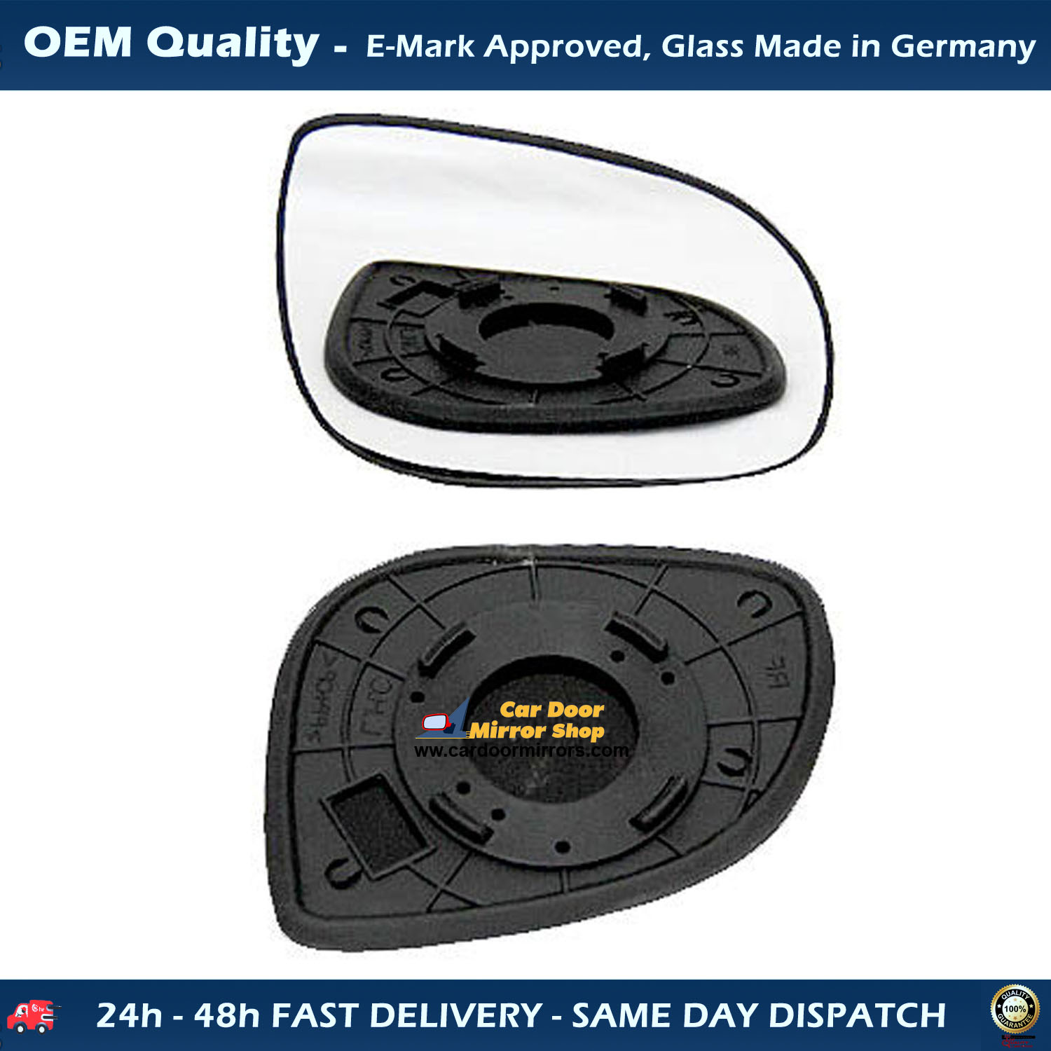 Fiat Ducato Black Wing Mirror Cover For Only Long Arm Rhs